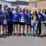 Tiverton Harriers team photo - runners, race organisers and helpers.